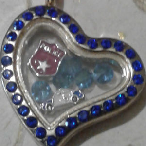 "Jewelry - NEW ""Police"" Memory Locket Necklace"